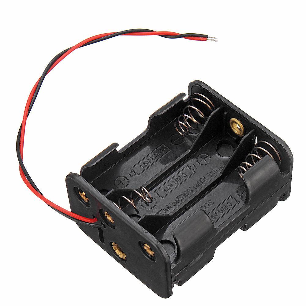 6 Slots AA Battery Holder Plastic Case Storage Box for 6xAA Battery