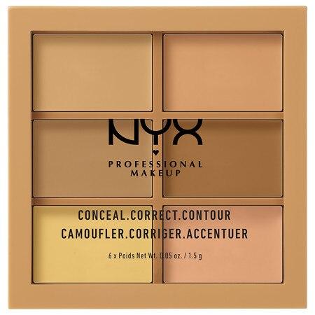 NYX Professional Makeup Conceal, Correct, Contour Palette - 0.05 oz