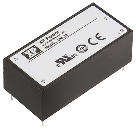 XP Power , 30W AC-DC Converter, 12V dc, Encapsulated, Medical Approved