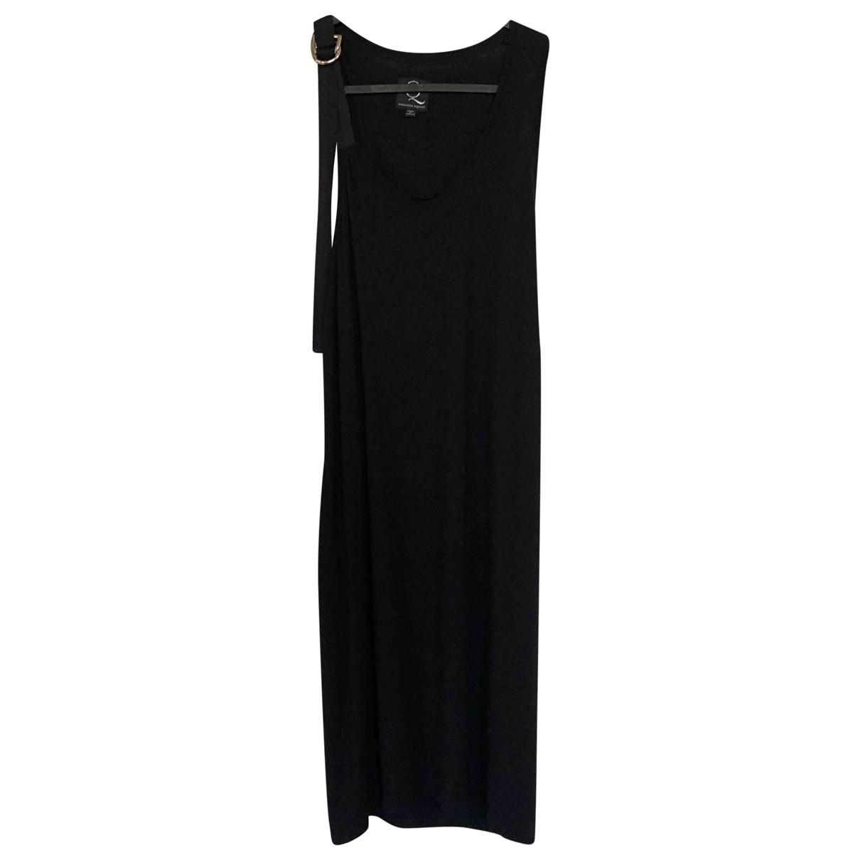 Mcq \N Kleid in  Schwarz Baumwolle
