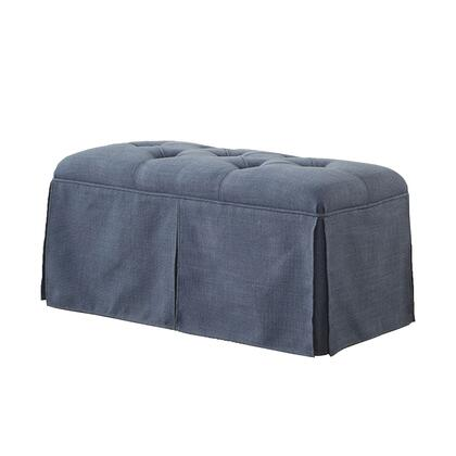 BM181463 Rectangular Button Tufted Fabric Upholstered Bench With Storage