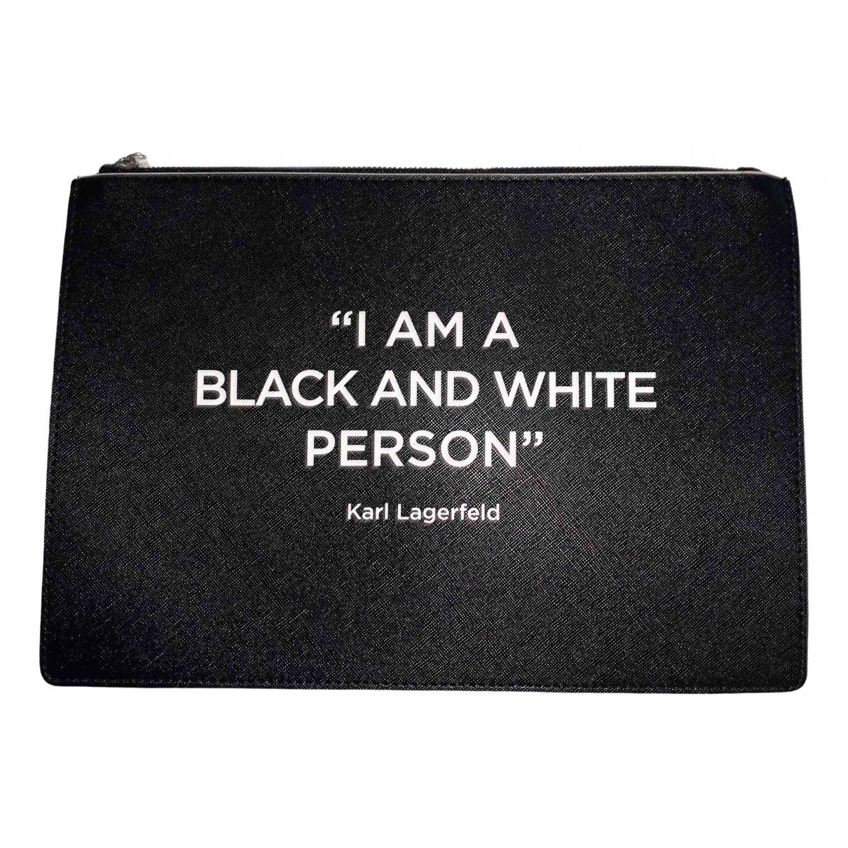Karl Lagerfeld \N Clutch in  Schwarz Polyester