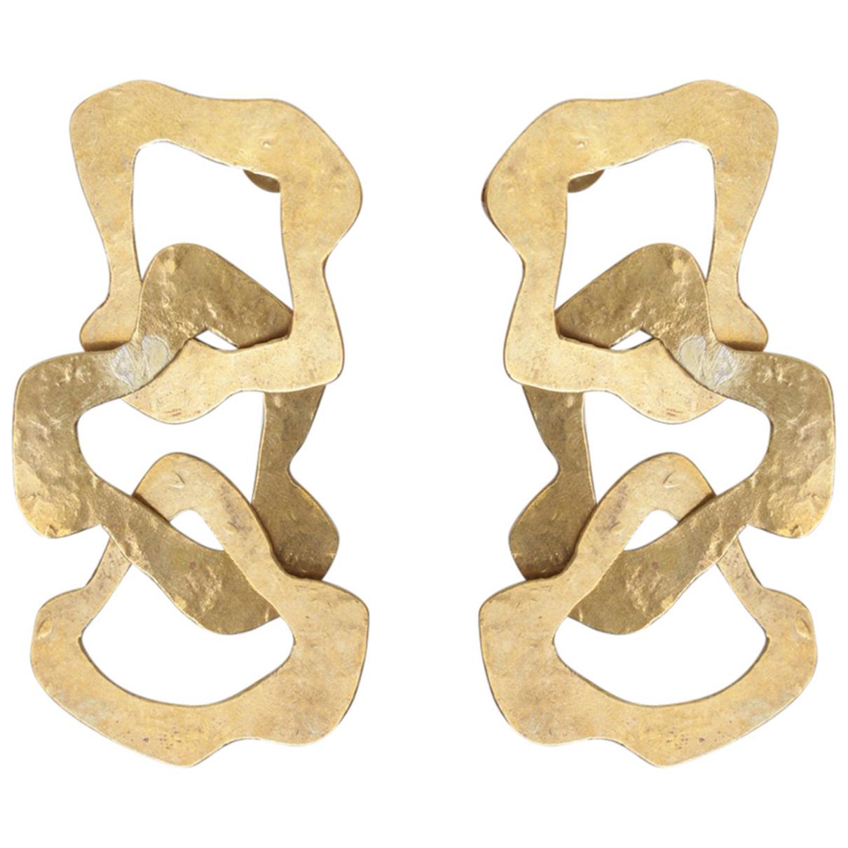 Herve Van Der Straeten - Boucles doreilles   pour femme en metal - dore
