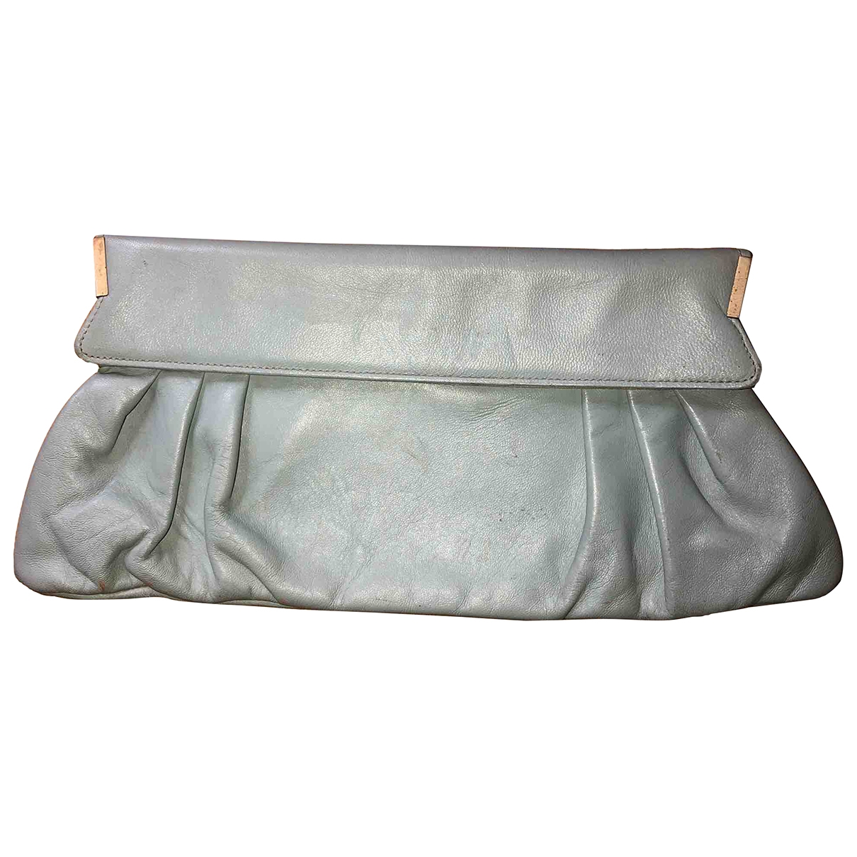 Non Signé / Unsigned \N Green Leather Clutch bag for Women \N