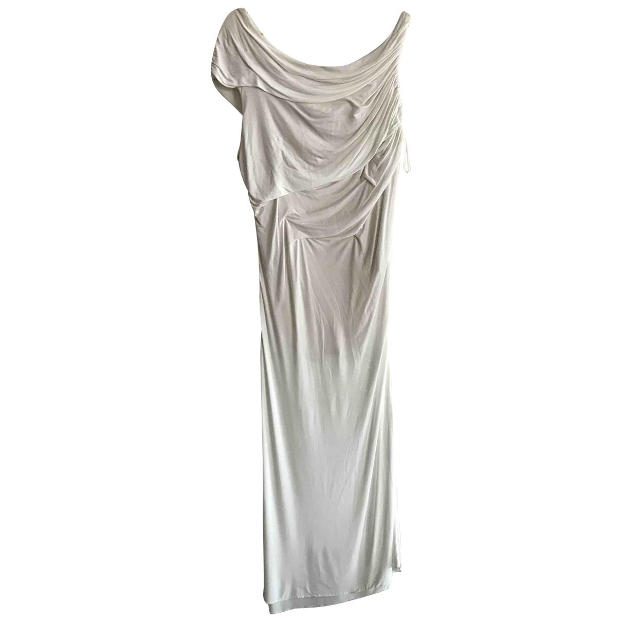 Gianni Versace \N Kleid in  Weiss Viskose