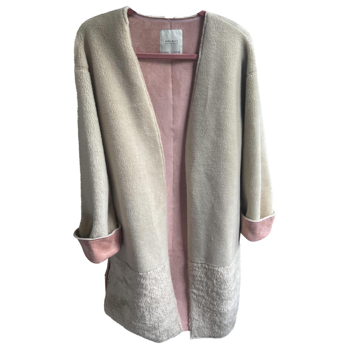Zara \N Beige Faux fur coat for Women L International