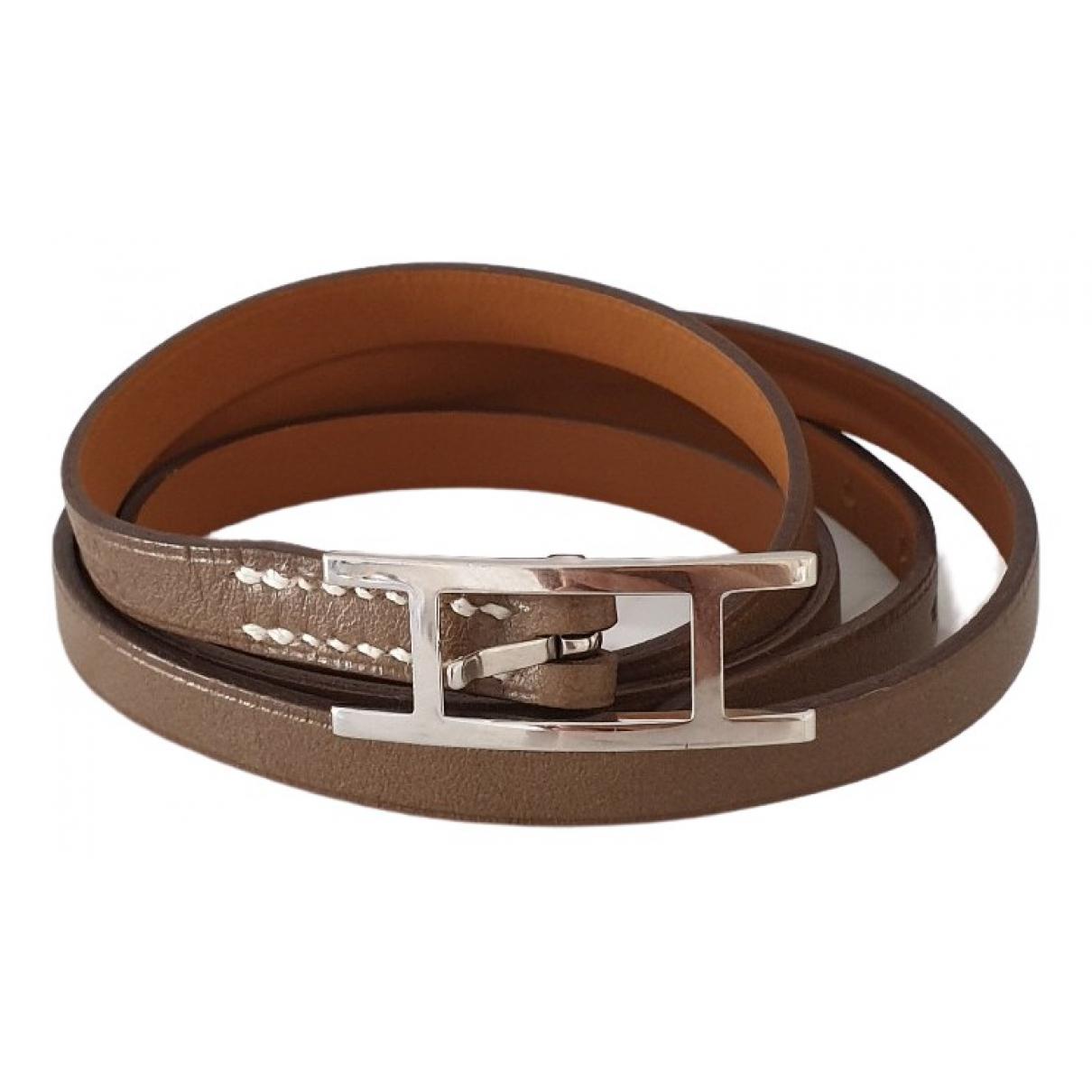 Hermes Hapi Armband in  Braun Leder