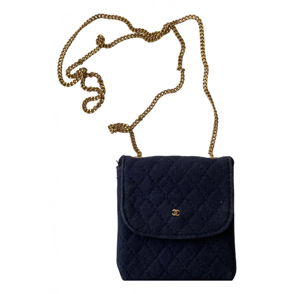 Chanel \N Navy Cloth Clutch bag for Women \N