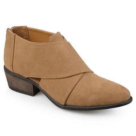 Journee Collection Womens Avryl Booties Block Heel, 8 Medium, Brown