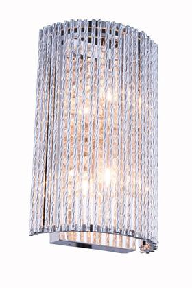 V2092W7C/RC Influx 2 Light Chrome Wall Sconce Clear Royal Cut