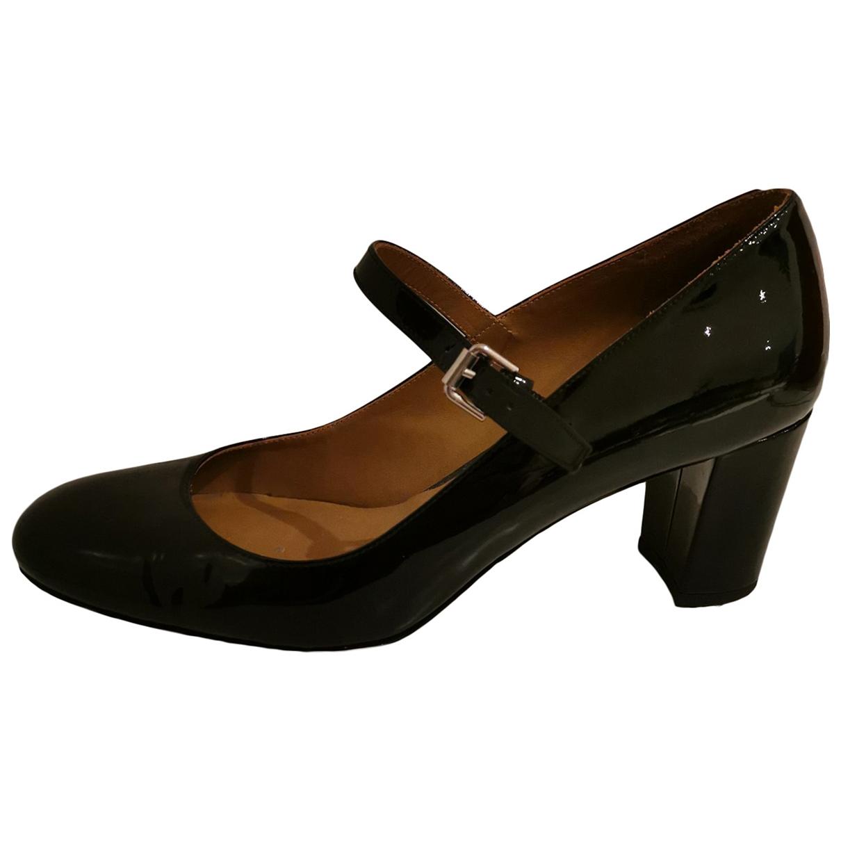 Polo Ralph Lauren - Escarpins   pour femme en cuir verni - noir