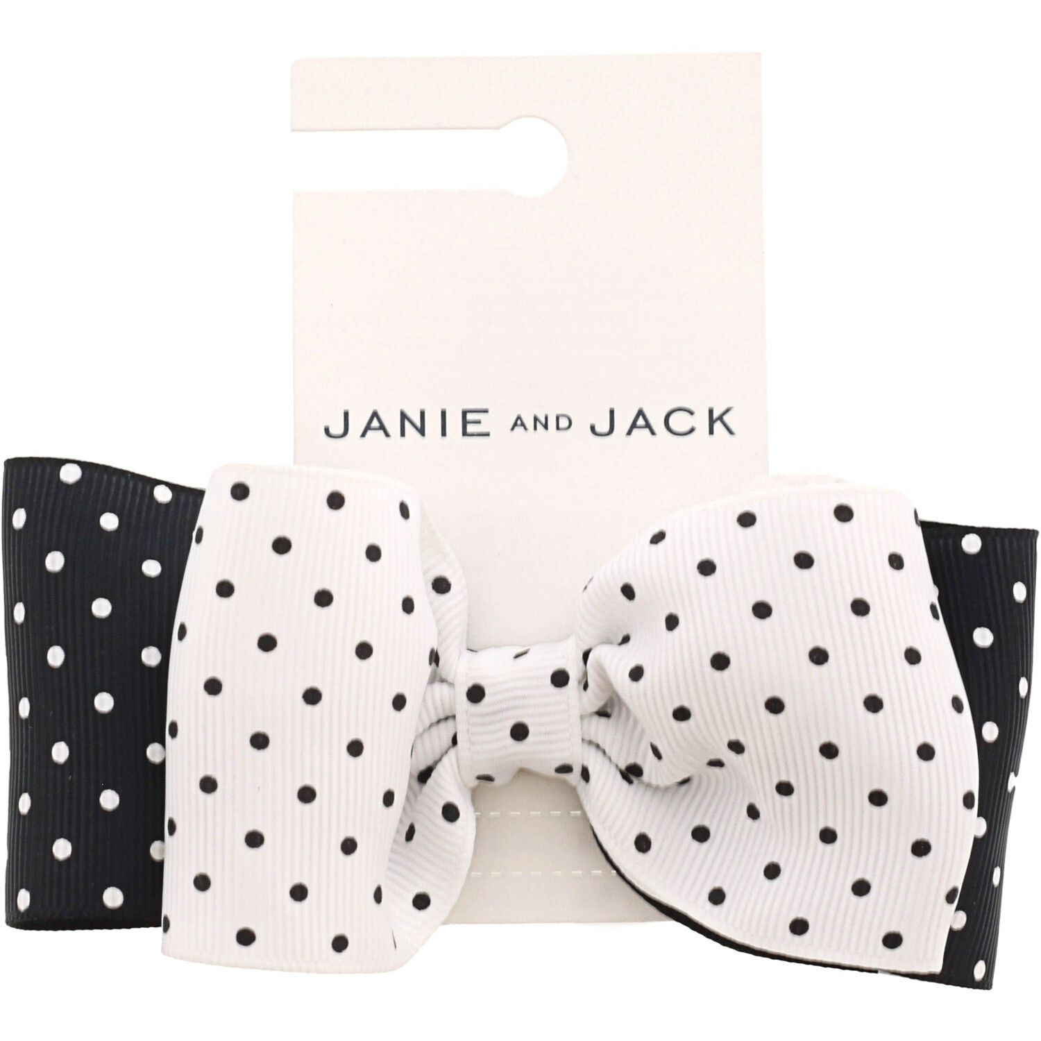 Janie And Jack Dot Bow Barrette Hair Accessory - One Size - White Dot