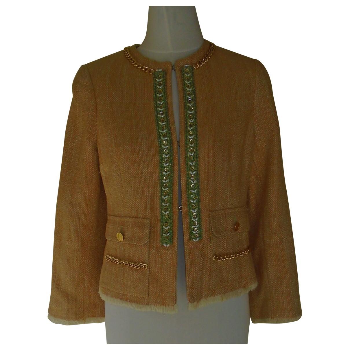 Dolce & Gabbana - Veste   pour femme en soie - orange