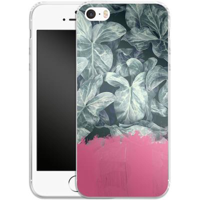 Apple iPhone SE Silikon Handyhuelle - Sweet Pink on Jungle von Emanuela Carratoni