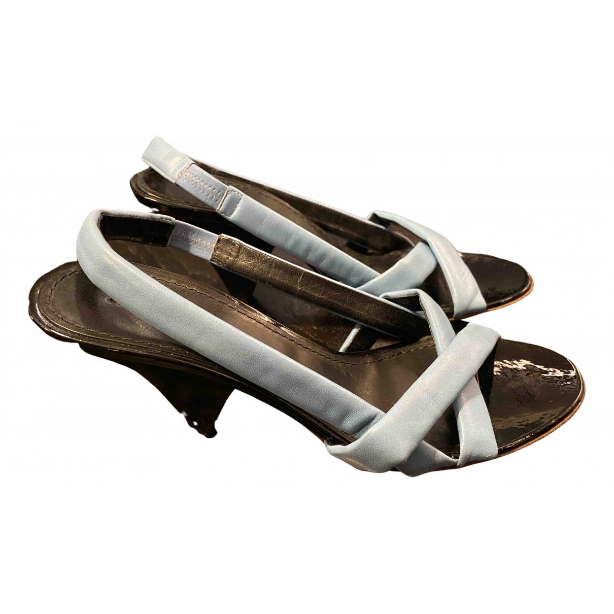 Celine \N Blue Leather Sandals for Women 36 EU