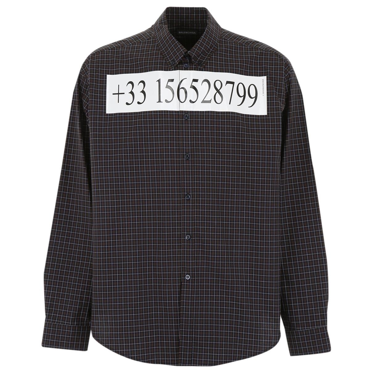Balenciaga \N Cotton Shirts for Men 37 EU (tour de cou / collar)