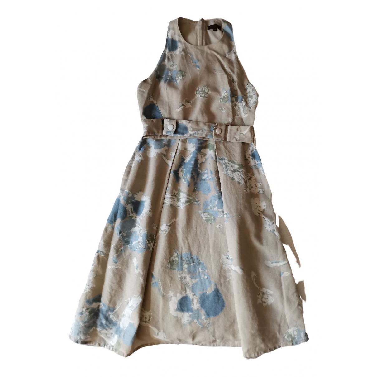Adolfo Dominguez \N Kleid in  Beige Baumwolle