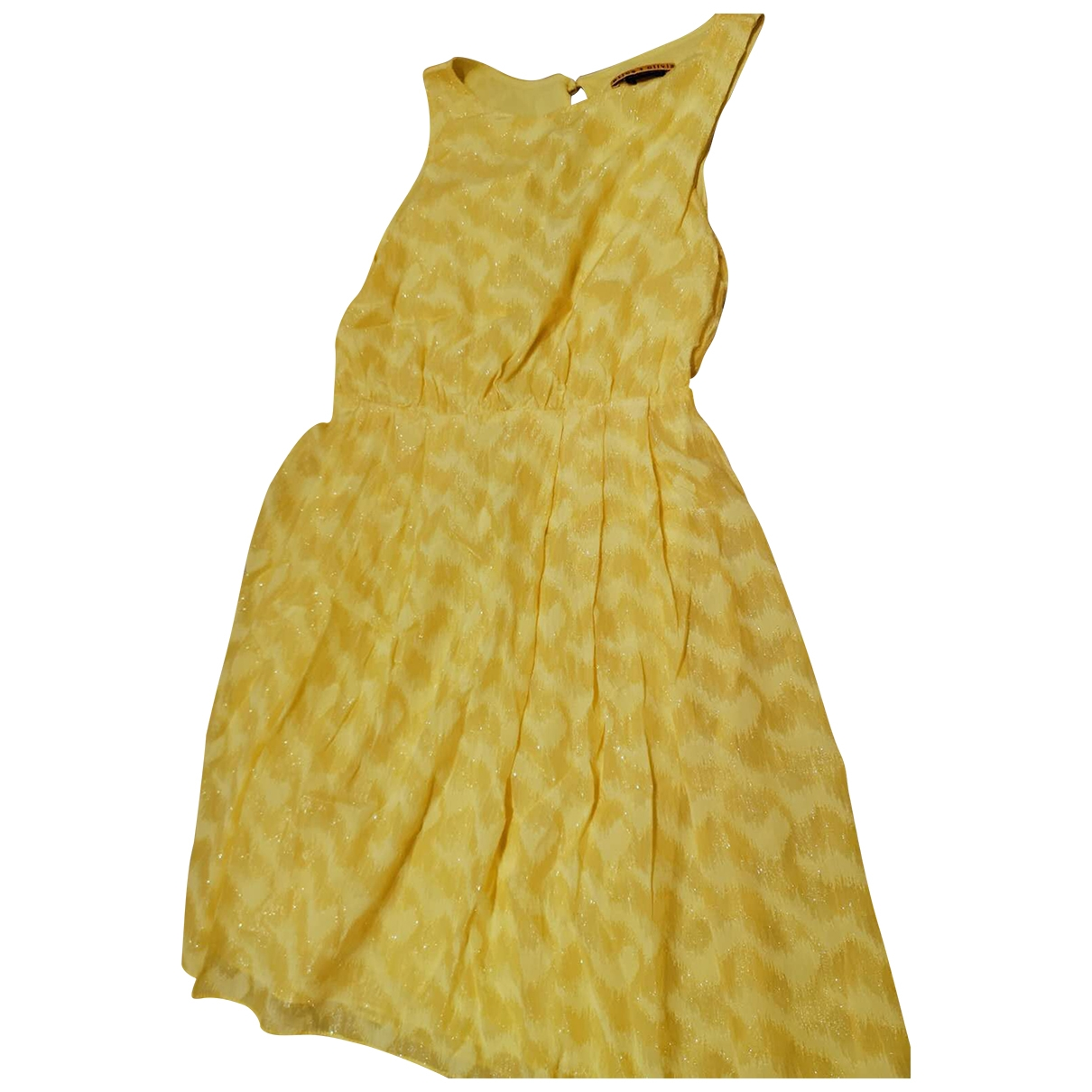 Alice & Olivia \N Kleid in  Gelb Seide