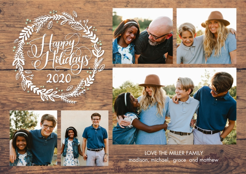 Christmas Photo Cards Flat Matte Photo Paper Cards with Envelopes, 5x7, Card & Stationery -2020 Holiday Rustic by Tumbalina