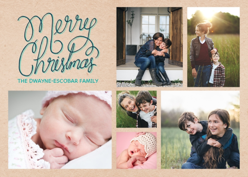 Christmas Photo Cards 5x7 Cards, Premium Cardstock 120lb with Elegant Corners, Card & Stationery -Christmas Cursive