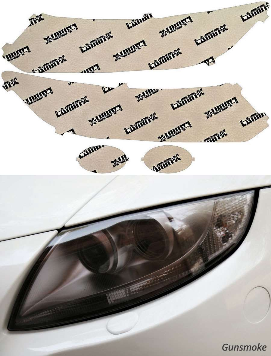 Honda Civic Sedan 13-15 Gunsmoke Headlight Covers Lamin-X H053G
