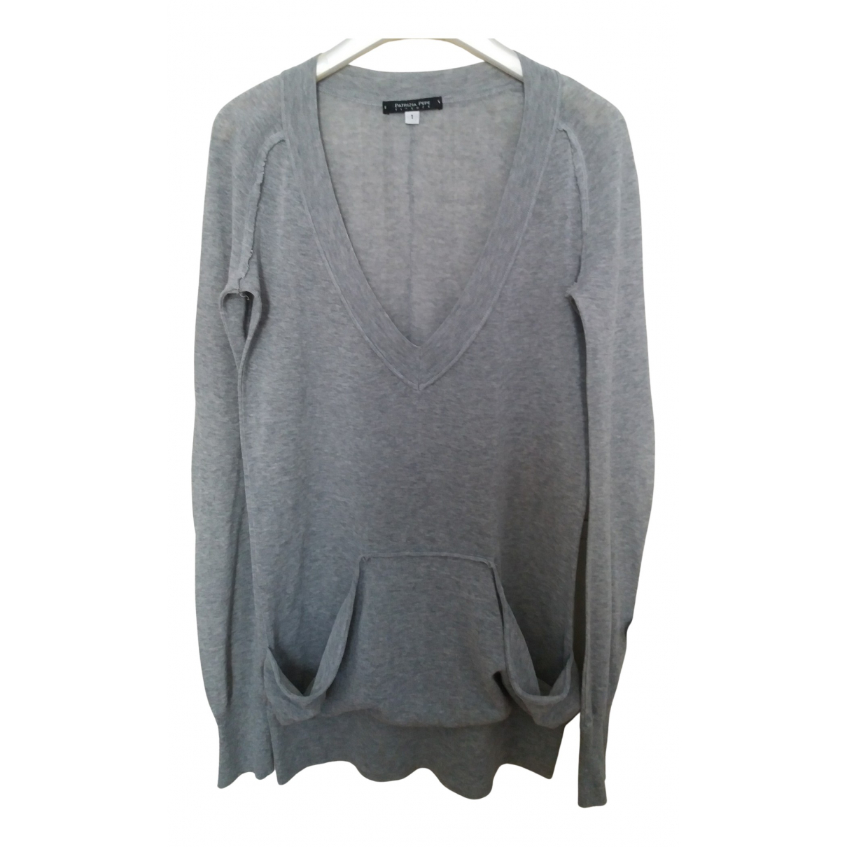Patrizia Pepe - Pull   pour femme en coton - gris