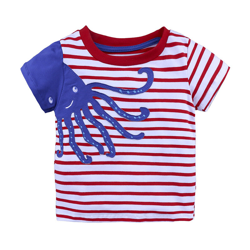 Car Printed Toddler Boys Short Sleeve Tops T shirts For 1Y-9Y