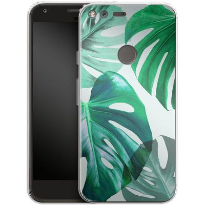 Google Pixel XL Silikon Handyhuelle - Monstera 1 von Mareike Bohmer
