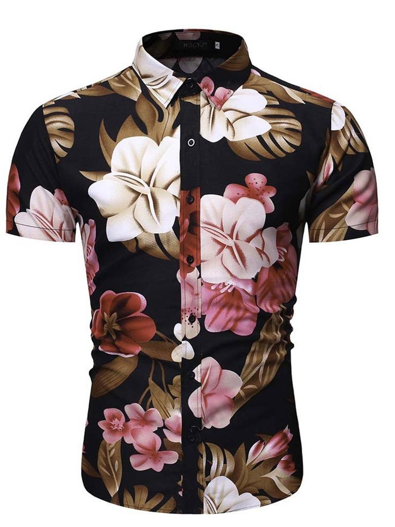 Ericdress Lapel Mens Slim Shirt