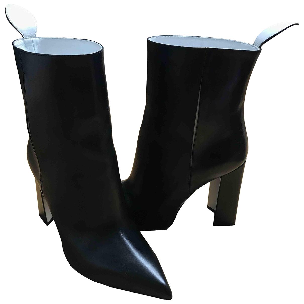 Louis Vuitton - Boots Matchmake pour femme en cuir - noir