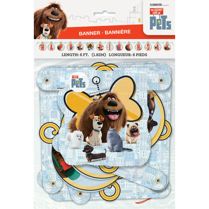 The Secret Life of Pets 1 Large Jointed Banner Pour la fête d'anniversaire