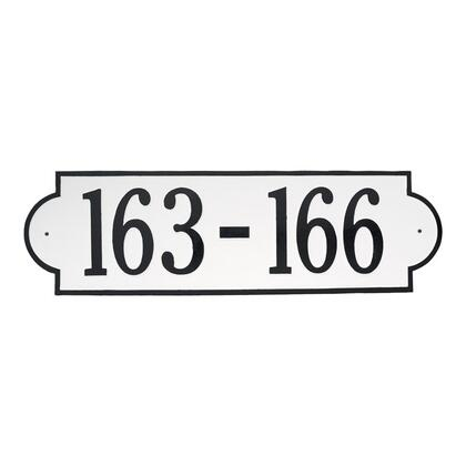 1446WH Extra Large Richmond Horizontal 1 Line Plaque in White and Black
