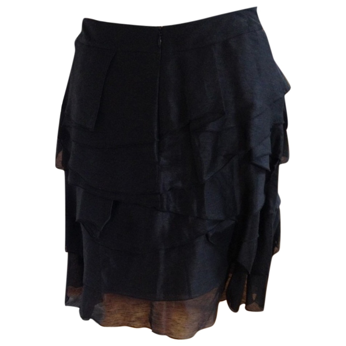 Reiss - Jupe   pour femme en lin - noir