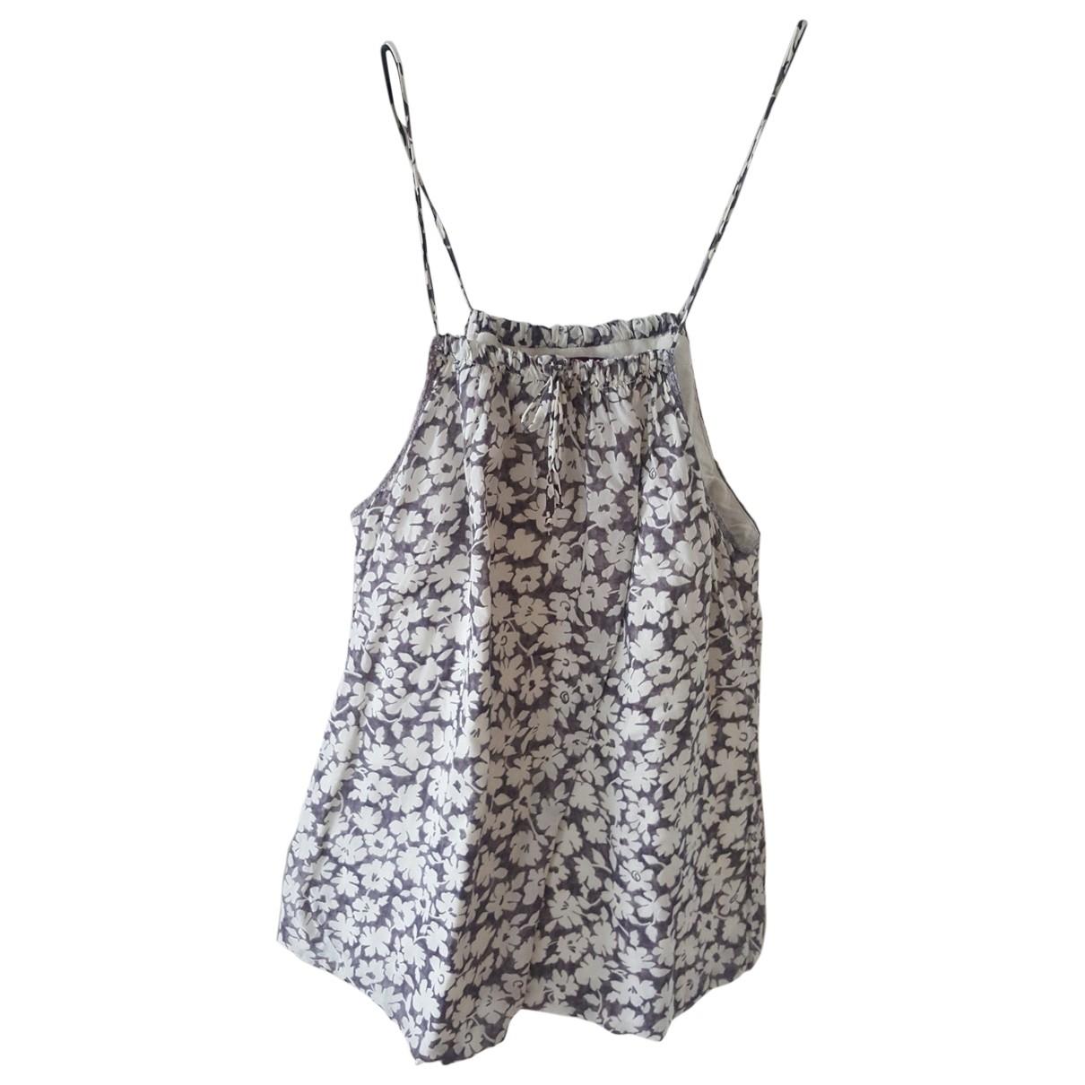 Velvet - Top   pour femme en coton - gris