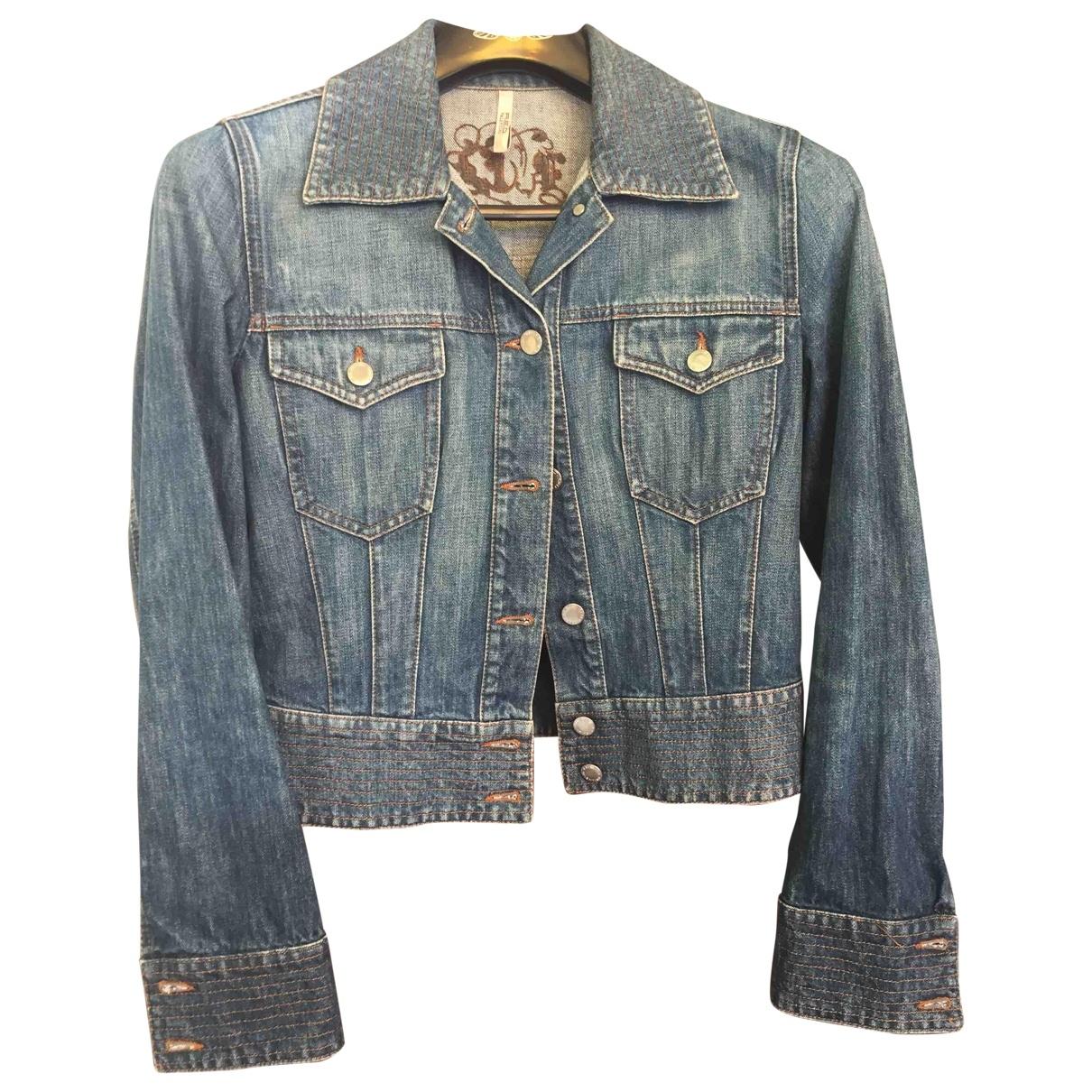 Red Valentino Garavani \N Blue Denim - Jeans jacket for Women 44 IT