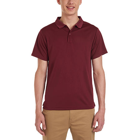 IZOD Young Mens Short Sleeve Performance Polo, Small , Red
