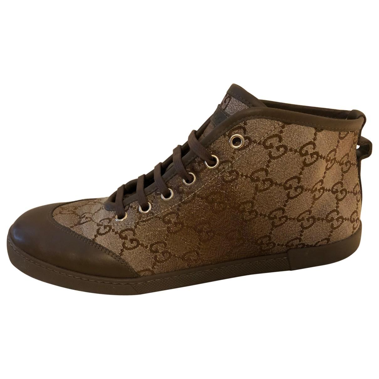 Gucci - Baskets Ace pour femme en toile - marron