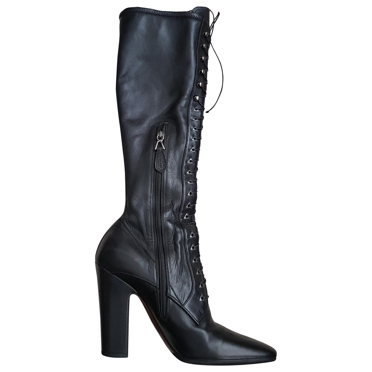 Alaïa \N Black Leather Boots for Women 38 EU