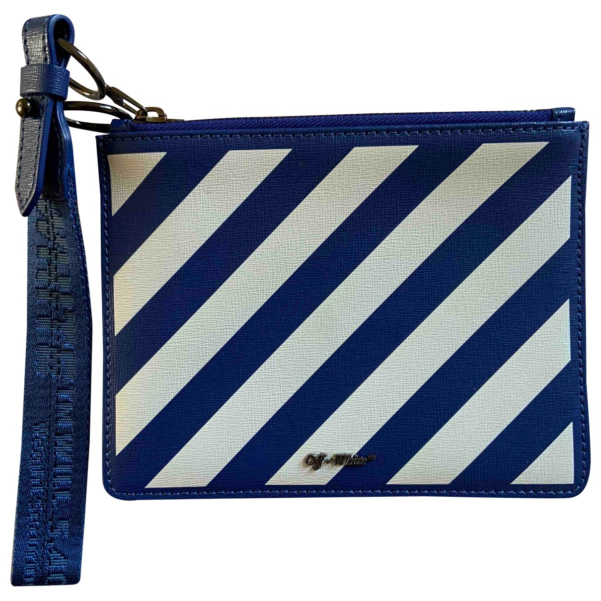 Off-white \N Clutch in  Blau Leder