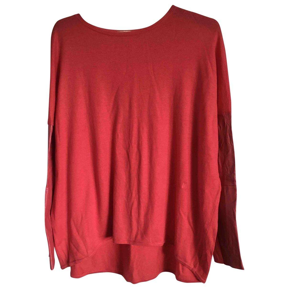 Maje - Pull   pour femme en laine - orange