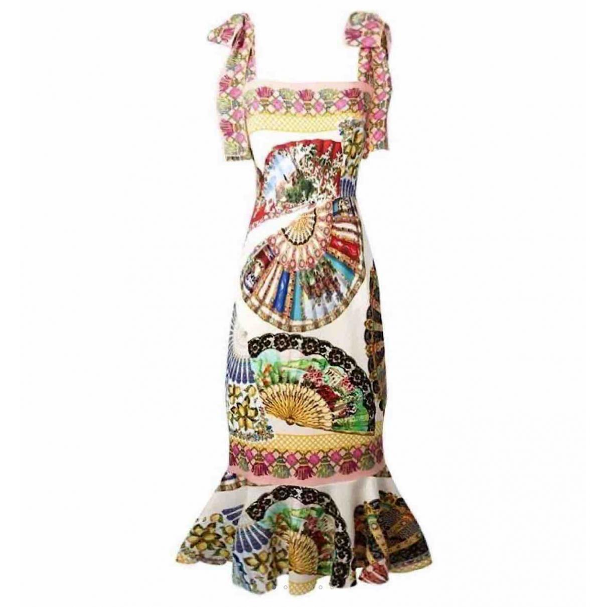 Dolce & Gabbana \N Multicolour Silk dress for Women 46 IT
