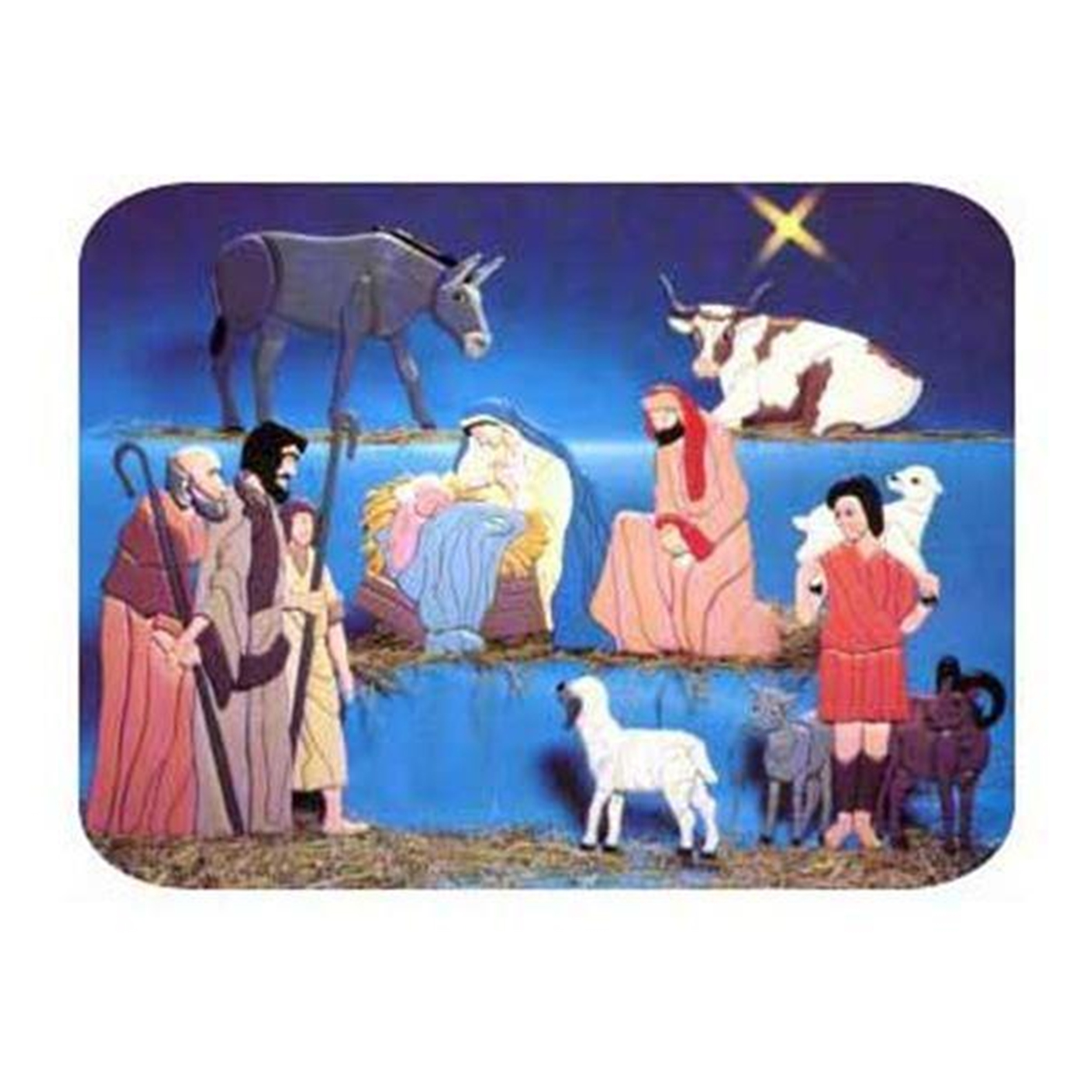 Woodworking Project Paper Plan to Build Intarsia Nativity Scene