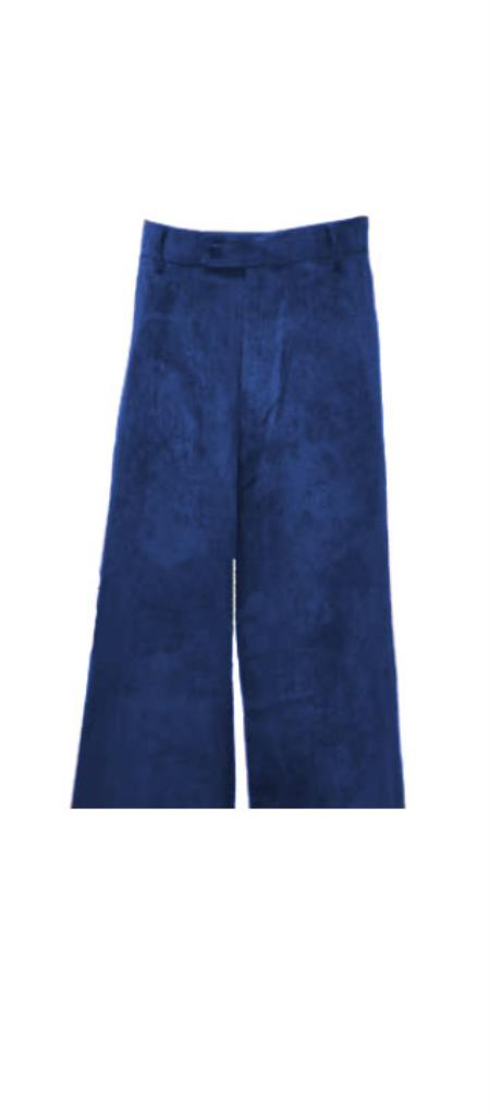 Corduroy Navy Blue Pants Slacks For Men