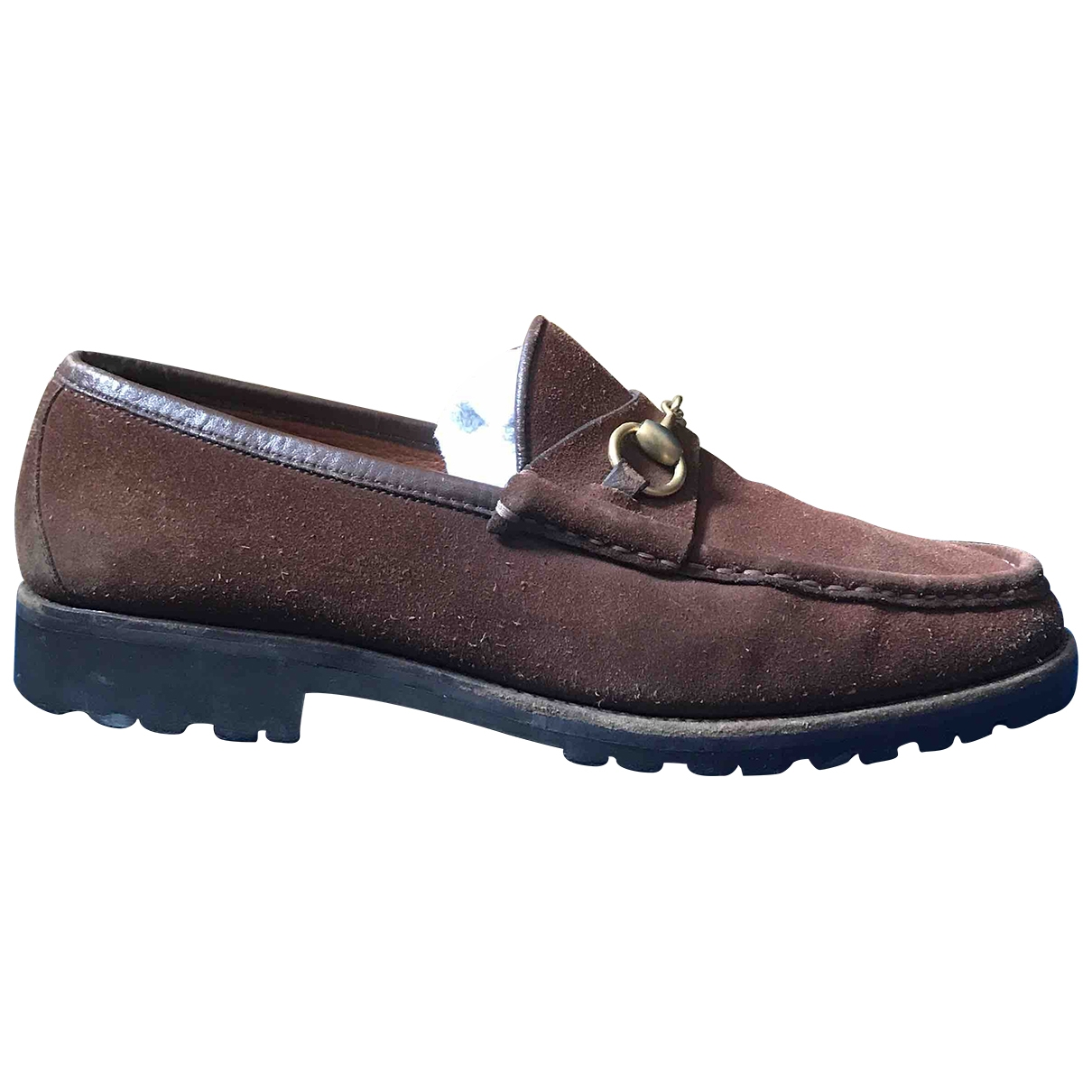 Gucci \N Brown Suede Flats for Men 8.5 UK