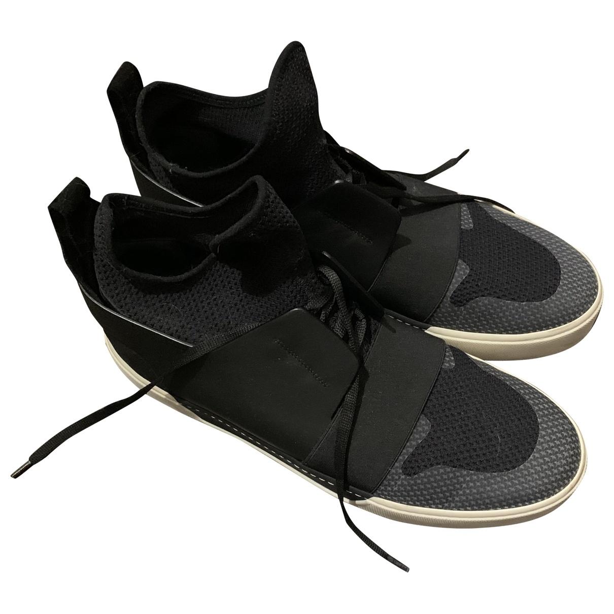 Balenciaga - Baskets   pour homme en toile - noir