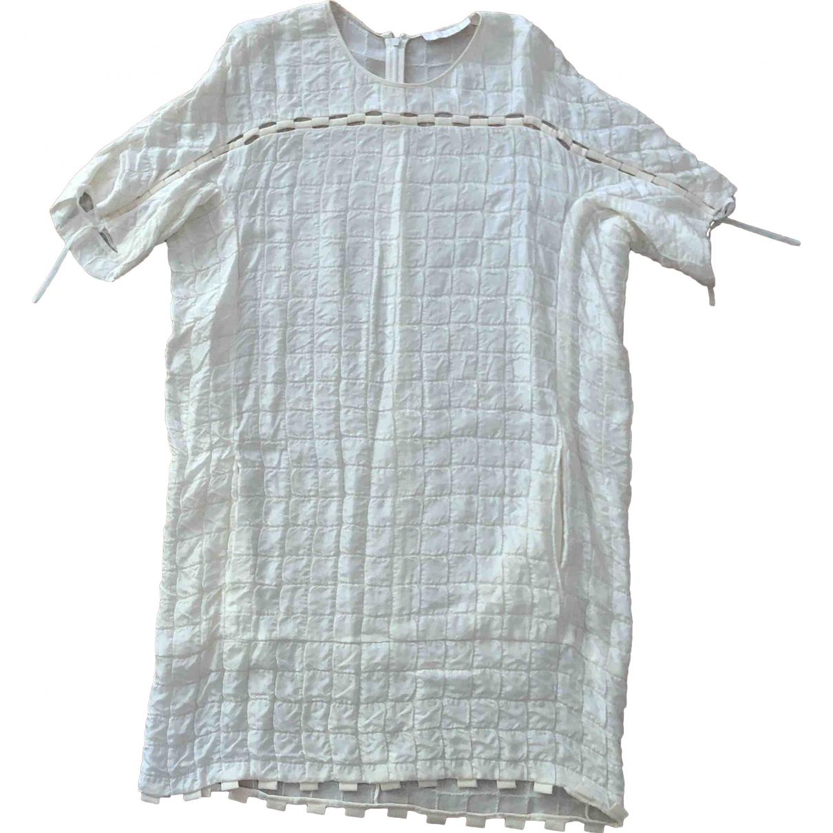 Chloé \N White Silk dress for Women 34 FR
