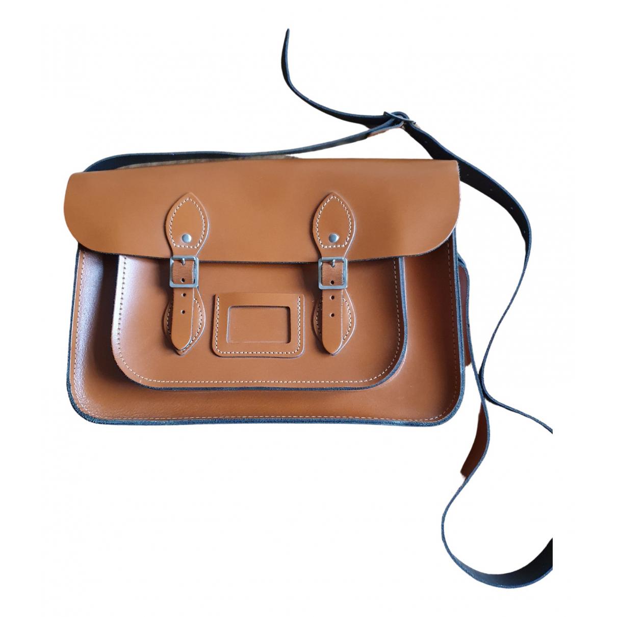 Leather Satchel Company \N Handtasche in  Kamel Leder