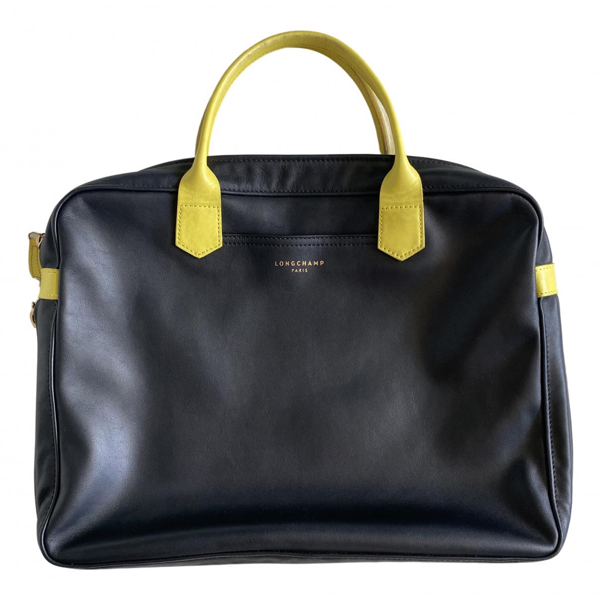 Longchamp - Sac   pour homme en cuir - noir