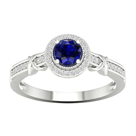 Womens 1/10 CT. T.W. Genuine Blue Sapphire 10K Gold Cocktail Ring, 7 1/2 , No Color Family