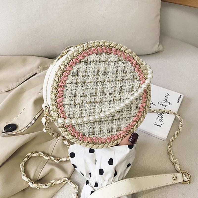 Ericdress Knitted PU Circular Crossbody Bags